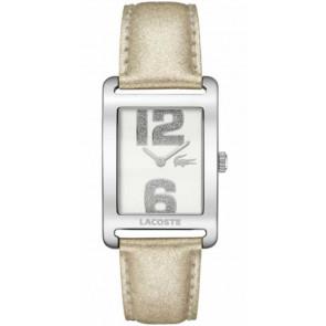 Bracelet de montre Lacoste 2000674 / LC-51-3-14-2261 Cuir Beige 20mm