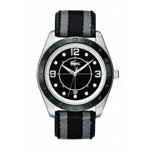 Bracelet de montre Lacoste 2010575 / LC-53-1-34-2267 Cuir Noir 24mm