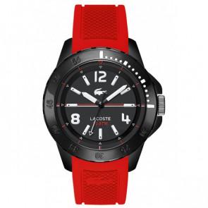 Lacoste bracelet de montre LC-75-1-29-2467 / 2010737 / 22mm Caoutchouc Rouge 22mm