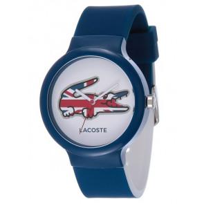 Lacoste bracelet de montre LC-46-4-47-2502 / 2020072 / 20mm Caoutchouc Bleu 14mm