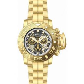 Bracelet de montre Invicta 22132.01 Acier Plaqué or 30mm