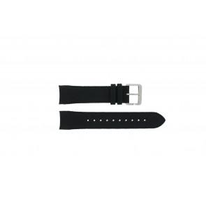 Hugo Boss bracelet de montre HB-232-1-27-2731 / HB1513087 Cuir Noir 22mm + coutures noires