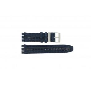 Bracelet de montre Swatch 247.11M Cuir Bleu 20mm