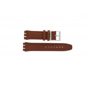 Bracelet de montre Swatch 247.02PL Cuir Brun 20mm