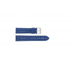 Bracelet de montre Universel 285R.05 Cuir Bleu 18mm