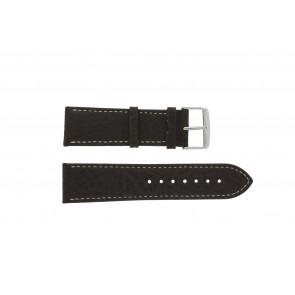 Bracelet de montre 307.02 XL Cuir Brun 24mm + coutures blanches