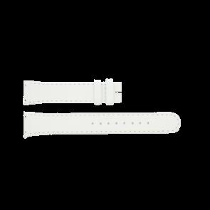 Boccia bracelet de montre BO3186-01-40W Cuir Blanc 19mm + coutures défaut