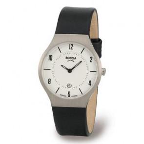 Bracelet de montre Boccia 3193-01 (BO811 X367S16) Cuir Noir 15mm