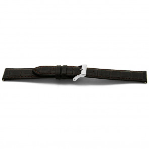 Bracelet de montre cuir brun 16mm EX-E332