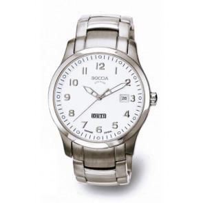 Boccia bracelet de montre 3530-07 Titane Argent 20mm
