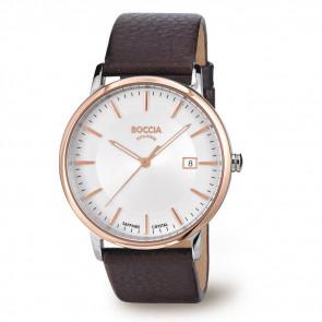 Bracelet de montre Boccia 3557-04 Cuir Brun 21mm
