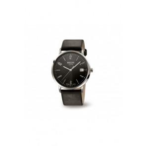 Bracelet de montre Boccia 3557-01 / 3557-02 / 3557 / 811 X410S21 Cuir Noir 21mm