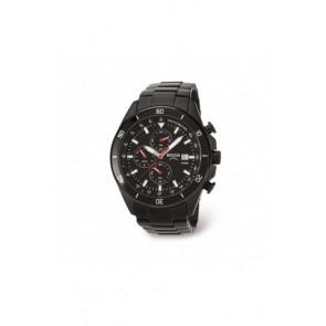 Bracelet de montre Boccia 3762-03 / 811 A3762AQSXC Acier Noir 21mm