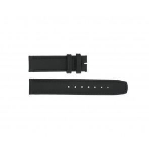 Boccia bracelet de montre 3771-01 Cuir Noir 20mm + coutures défaut