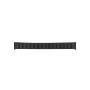 Bracelet de montre Universel 382960 Acier Noir 22mm