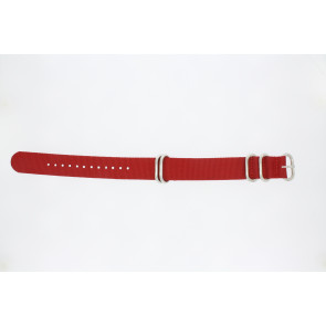 Bracelet de montre 409.06.20 Textile Rouge 20mm