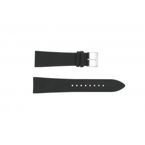 Bracelet de montre Junghans 42050-4963 / 030/4942.00/222987 Cuir Noir 22mm