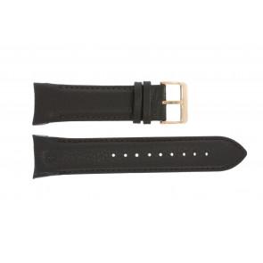 Bracelet de montre Swiss Military Hanowa 06-4278 / 06-4278.04.001.05 / 06-4278.09.001 Cuir Brun foncé 24mm