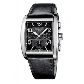 Raymond Weil bracelet de montre SI2801-4876-1 Cuir Noir 28mm + coutures noires