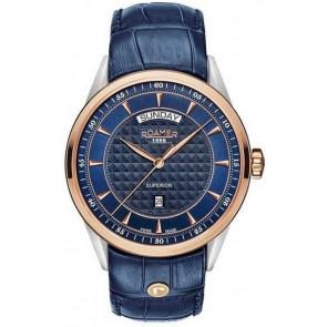 Bracelet de montre Roamer 508293.49.45.05 Cuir Bleu