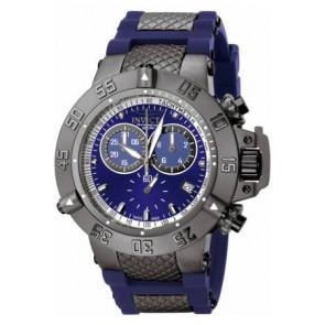 Bracelet de montre Invicta 5509.01 Acier/Silicone Bleu