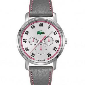 Bracelet de montre Lacoste 2000595 / LC-41-3-14-2230 Cuir Pourpre 20mm
