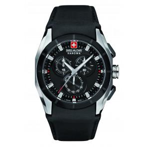Bracelet de montre Swiss Military Hanowa 6-4191.33.007 Cuir Noir 24mm