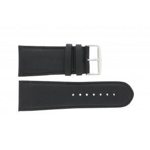 Bracelet de montre 61215B.10.28 Cuir Noir 28mm + coutures défaut