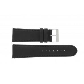 Bracelet de montre 61215B.10.26 Cuir Noir 26mm + coutures défaut