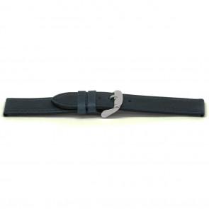 Bracelet de montre Universel E629 Cuir Bleu 16mm