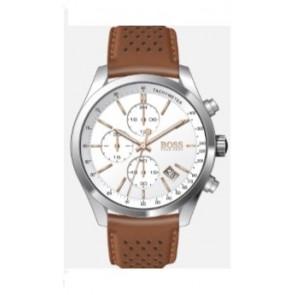 Bracelet de montre Hugo Boss HB-297-1-14-2955 / 659302763 Cuir Cognac 22mm