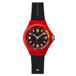 Bracelet de montre Ferrari SF-01-1-47-0005 / 689300004 Silicone Noir