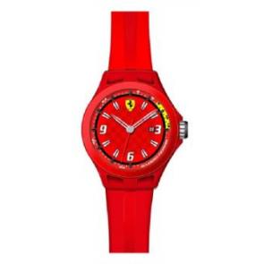Bracelet de montre Ferrari SF-01-1-47-0005 / 689300005 Silicone Rouge