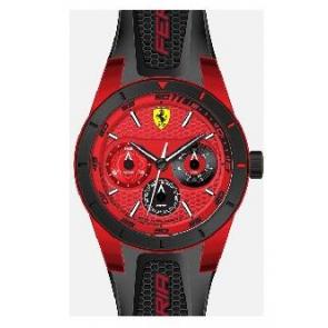 Bracelet de montre Ferrari SF-28-1-44-0189 / 689300186 Silicone Noir