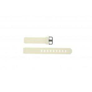 Jacob Jensen bracelet de montre 700 Serie Caoutchouc Blanc 17mm