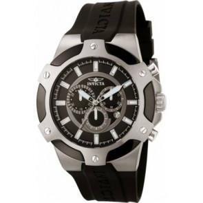 Bracelet de montre Invicta 7342-SIGNATURE-II Caoutchouc Noir 21mm