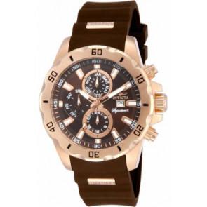Bracelet de montre Invicta 7484.01 Caoutchouc Brun