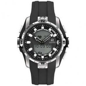 Bracelet de montre Roamer 770990-41-55-07 Caoutchouc Noir