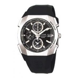 Bracelet de montre Pulsar 7T62-X121 Plastique Noir