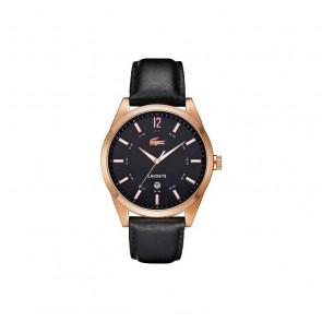 Bracelet de montre Lacoste 2010582 / LC-52-1-34-2266 Cuir Noir 22mm