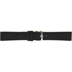 Bracelet de montre 823.01.10 Cuir Noir 10mm + coutures noires