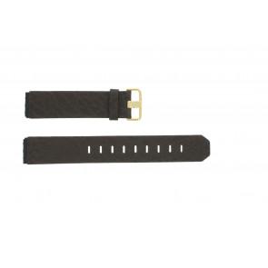 Bracelet de montre Jacob Jensen 845 / 844 / 847 Cuir Brun 19mm