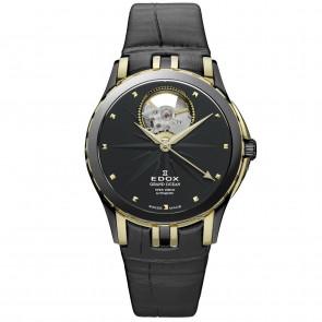 Bracelet de montre Edox 85012 Cuir Noir