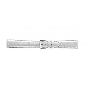 Morellato bracelet de montre Amadeus G.Croc Glans U0518052017CR22 / PMU017AMADEC22 Peau de crocodile Blanc 22mm + coutures défaut
