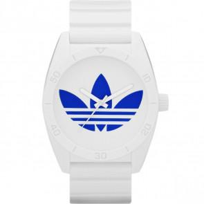 Bracelet de montre Adidas ADH2704 Caoutchouc Blanc