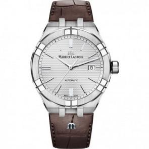 Bracelet de montre Maurice Lacroix Aikon AI6008-SS001-130-1 Cuir Brun 25mm
