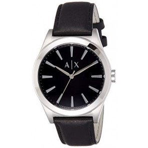 Bracelet de montre Armani Exchange AX2323 Cuir Noir 22mm