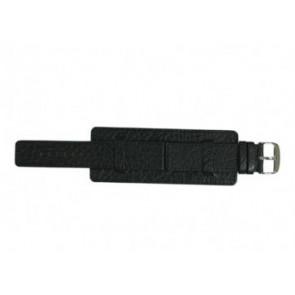 Davis bracelet de montre B0220 Cuir Noir 22mm