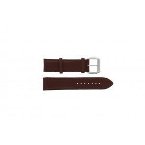 Davis bracelet de montre BB0231 Cuir Brun foncé 21mm + coutures brunes