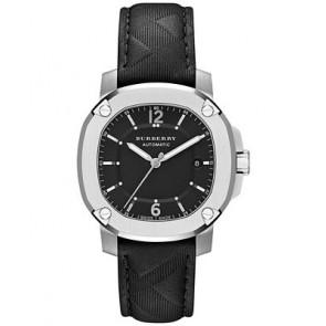 Bracelet de montre Burberry BBY1209 Cuir Gris anthracite 20mm